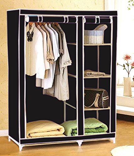 Everything Imported 3.5 feet Folding Wardrobe Cupboard Almirah Foldable Storage Rack Collapsible Cabinet  available at amazon for Rs.1999