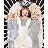 Babydecke Aus 100% Bio Baumwolle - Kuschelige Strickdecke Ideal Als Baby Decke, Erstlingsdecke, Wolldecke Oder Baby Kuscheldecke/natur-für Mädchen Und Jungen 74 X106CM #3
