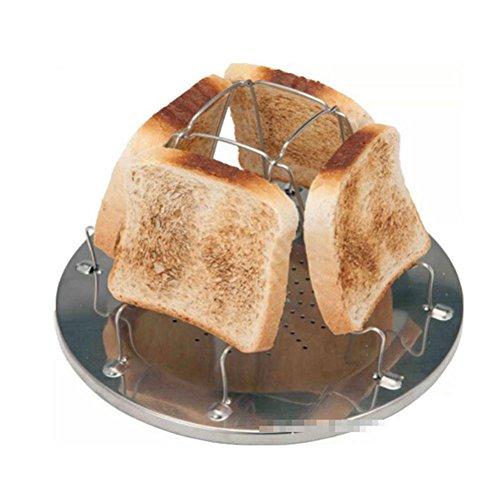 Espeedy Tostador de pan,4 rebanada plegable estufa tostadora de pan de acero...
