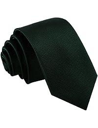Nueva corbata de hombres con motivo sólido cuadros DQT