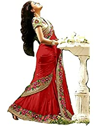 Vinayak Textiles Georgette Saree With Blouse Piece (Vtmgnt93099_Neavy Blue, Grey_Free Size)