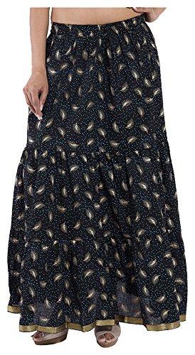 Decot Paradise Women's Long Skirt (SKT352, Black, M)  available at amazon for Rs.299