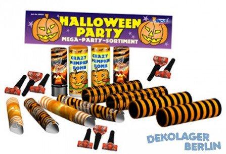 Halloween Party Set Luftschlangen Troeten Tischfeuerwerk Party Popper