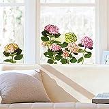 Raamsticker XXL Hortensia roze