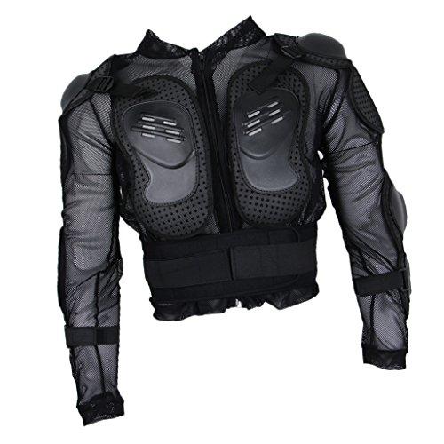Sharplace-Armatura-Moto-Giacca-Proteggere-Schiena-Spalla-Gomito-Avambraccio-Nero
