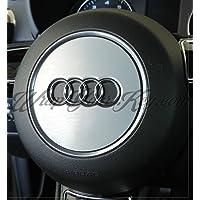 Alluminio spazzolato Wrap Overlay S RS Airbag Audi A1, A3, A4, A6, A8TT Q3Q5Q7