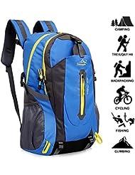 Yunplus 40L Leichtes Wandern Rucksack, Multifunktions Wasser-resistent Casual Camping Trekking Rucksack für Radfahren Reisen Klettern Outdoor Sport