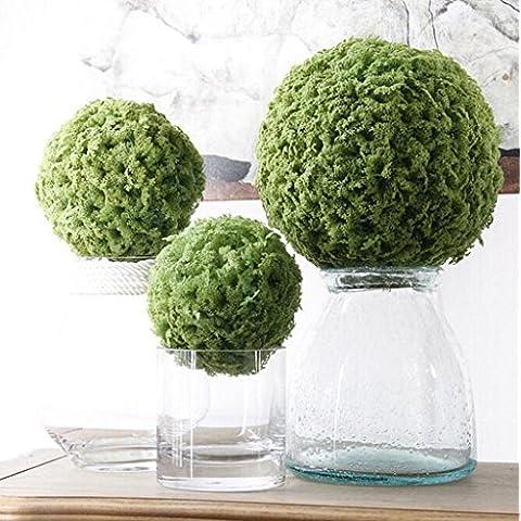 GWZ,Plantas artificiales, flores artificiales, bola verde en Milán, juegos de bola de hierba, decoración para el hogar LINXIANBISHUIYIYUAN