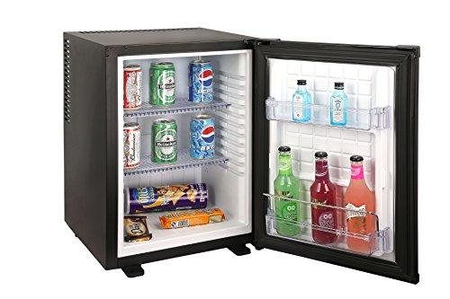 Sirge FRIGO35L0D réfrigérateur 35 litres SILENT 0 dB Classe A + Mini-bar Réfrigérateur BLACK frigobar Frigo-Bar Noir mat [dimensions: 400 (L) x 425 (P) x 560 (H) mm] - Idéal pour hôtel