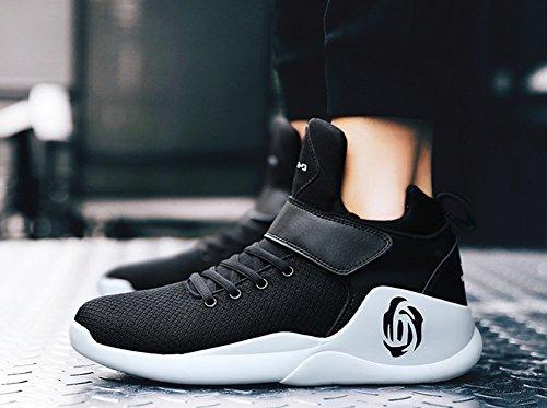 Uomini Sneakers Di Pallacanestro Alta Rise Scarpe Da Passeggio Autunno Nuovo Ammortizzatore Di Ammortizzatori Di Scarpe Da Corsa Black