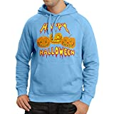 lepni.me Sweatshirt à capuche manches longues Happy Halloween! Party Outfits & Costume - Gift Idea (Small Bleu Multicolore)