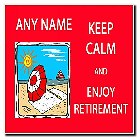 Keep Calm And Enjoy Retirement Personalised Drinks Mat