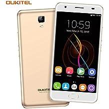 OUKITEL K6000 Plus - 4G Smartphone Libero Batteria 6080mAh MTK6750T Octa Core, 5,5 pollici 2.5D Display, Androide 7.0, 4GB RAM e 64GB ROM 8MP + 16MP Telecamere Impronta Digitali Dual SIM Flash Charger OTG - Oro