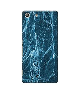 Be Awara Blue Marble Designer Mobile Phone Case Back Cover For Sony Xperia M5