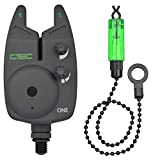 Spro Bissanzeiger elektronisch Hanger Komplett Set - C-Tec One Alarm Combi Green