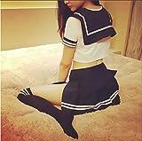- 51Y5fPYwjiL - Olanstar Sexy Cosplay Schulmädchen Dessous Outfit Mini Sailor Anzug mit Strümpfen