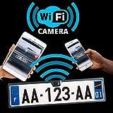 Caméra de recul WiFi sur Plaque d'immatriculation - sans Fils - Fonctionne sous...