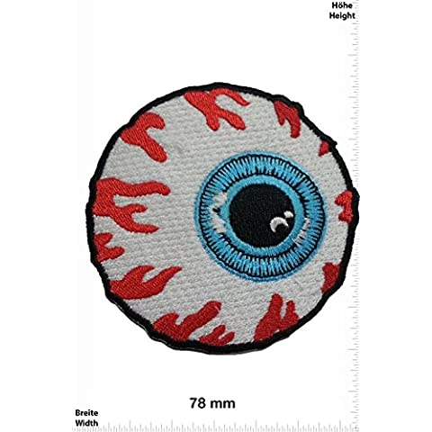Patch - Bloody Eye - Santa Cruz Skateboards - Cool Brands Patch - Streetwear - Vintage - Chaleco - toppa - applicazione - Ricamato termo-adesivo - Give Away