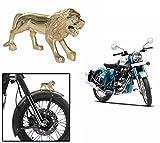 Spedy Brass Standing Lion Bike Front Fender Decorative Royal Enfield Thunderbird Old 350