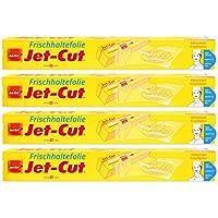 Film de plástico para cortar Jet-Cut, uso doméstico 30cm x 40m, transparente, paquete ahorro con 4 unidades