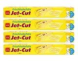 Jet-Cut Frischhaltefolie zum Schneiden, Consumer 30cm x 40m, transparent, Vorratspackung 4 Stück im Set
