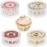 LS-LebenStil 100 Vintage Papier Muffinförmchen Papierförmchen Papierbackförmchen Set Design Home Baking 7x4cm