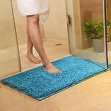asdomo baño alfombra Pet Mat antideslizante lavable a máquina absorbente suave Mat Alfombra para sofá cama baño ducha, azul claro, 60*90CM