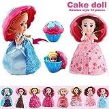 Delidraw 12pcs / Set Torta Torta Bambola Mini deformabile Pasticceria Principessa Regalo Giocattoli per Bambini Ragazze