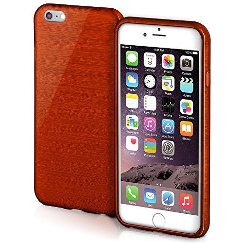 iPhone 6S Hülle Silikon Rose [OneFlow Brushed Back-Cover] TPU Schutzhülle Ultra-Slim Handyhülle für iPhone 6/6S Case Dünn Silikonhülle Rückseite Tasche INDIAN-RED