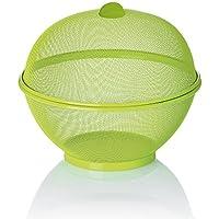 kela Cesta de Frutas como, Acero, Color Verde, 26,5x 24,5cm, de la Marca