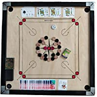 Carrom Board 32 inch Full Size, Super matt Finish, with Ludo, Playing Cards, and Carrom Coins