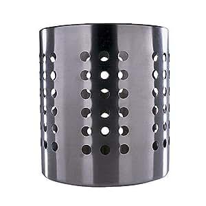 IKEA 4260179700392 Ordning Égouttoir à Couverts Acier Inoxydable Black 14 x 12 x 12 cm