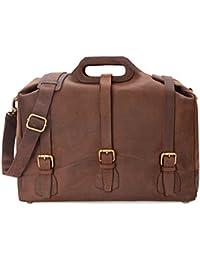 LEABAGS Bakersfield sac à main rétro-vintage en véritable cuir de buffle