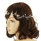 topq ueen sposa gioielli cristallo Pearl Vine fasce per capelli capelli di nozze Adattatore pettine capelli Band