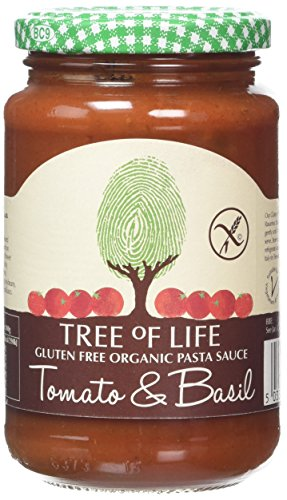 Tree of Life Organic & Gluten Free Tomato & Basil Pasta Sauce 350g (Pack of 6)