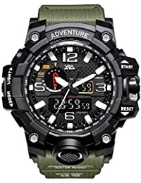 V2A Quartz Analogue-Digital Black Dial Men's Watch