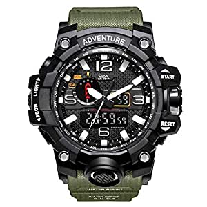 V2A Army Shockproof Waterproof Analog-Digital Sports Watch for Men