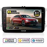 NEOTONE WRX-980A Autoradio für VW | Skoda | Seat | Navigation mit Europakarten 2019 | 8 Zoll | DVD | DAB+ Unterstützung | USB | Octa-Core | 4K Ultra HD Video | WLAN | Bluetooth | MirrorLink | RDS
