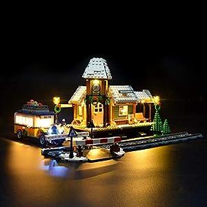 LIGHTAILING Set di Luci per (Creator Expert Stazione ferroviaria Invernale) Modello da Costruire - Kit Luce LED… 0746362888916 LEGO