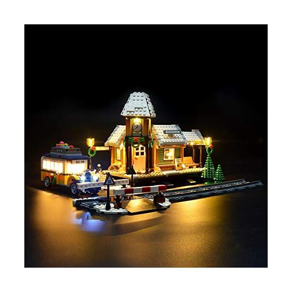 LIGHTAILING Set di Luci per (Creator Expert Stazione ferroviaria Invernale) Modello da Costruire - Kit Luce LED… 1 spesavip