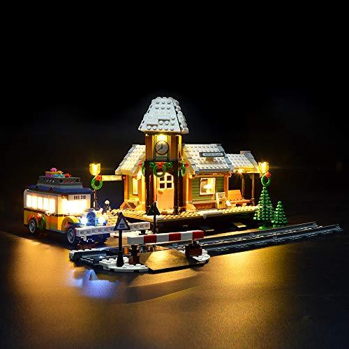 LIGHTAILING Conjunto de Luces (Creator Expert Invierno Estación) Modelo de Construcción de Bloques - Kit de luz LED Compatible con Lego 10259(NO Incluido en el Modelo)
