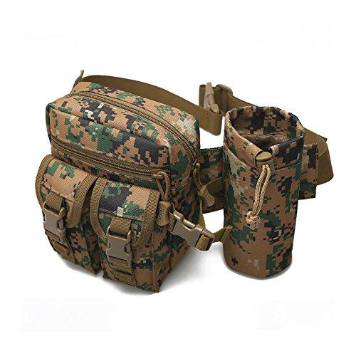 90 Punkte Military Tactical Taille Tasche Drop Leg Gadget Werkzeug Tasche  Mehrzweck für Camping Wandern FOREST DIGITAL cb1f229040
