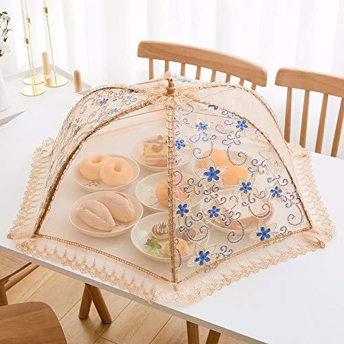 Zpspz coprivivande una copertura alimentare pieghevole.una copertura alimentare.una copertura a prova di mosca.filo rotondo grande mesh,b,80cm