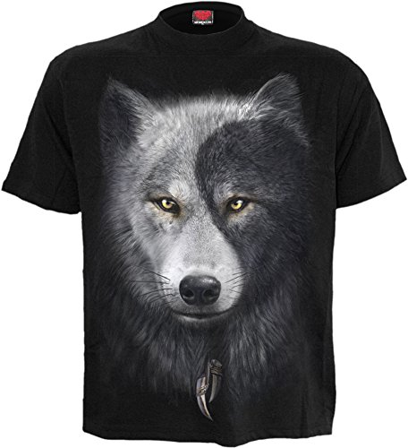 Shirt 3XL 4XL Plus Size Wolff Hund Animal Gothic ()