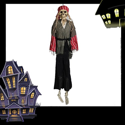 180CM Hohe Piraten-Halloween-Partei-Dekor Prop Schaum Realistisches Skelett Deko Halloween