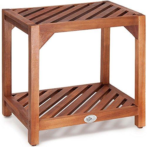 Beistelltisch Holztisch Gartentisch Kaffeetisch Telefontisch aus Akazienholz 45 x 33 x 45cm