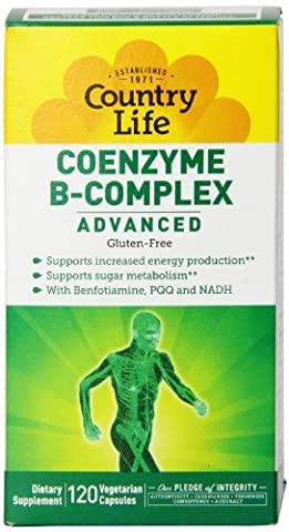 Country Life Coenzyme B Complex Advanced Capsules, 120 Count by Country Life