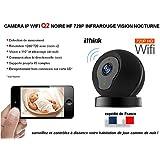 Caméra de surveillance IP modèle Q2 couleur infrarouge (vision de nuit) avec zoom, fonction alarme et son bi directionnel