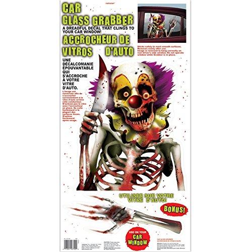 Fancy Dress VIP Clown Aufkleber gruselig Karneval Zirkus Killer Halloween Auto Grabber Fenster Cling Vinyl Dekoration