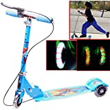 Kids Best Quality 3 Wheel Scooter With Height Adjustable Folding Portable Riding Bicycle & Fold Able Kids Kick Scooter With Led Lights In Wheel Kids Scooter